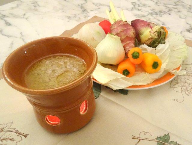La bagna cauda con verdure